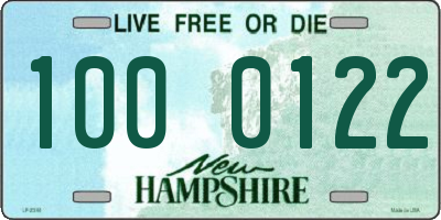 NH license plate 1000122
