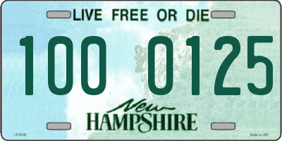 NH license plate 1000125