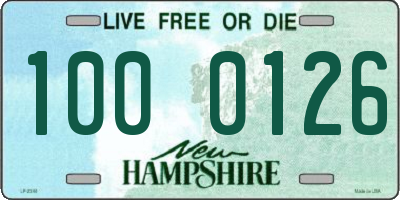 NH license plate 1000126