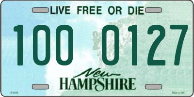 NH license plate 1000127