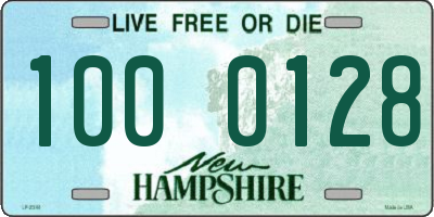 NH license plate 1000128
