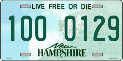NH license plate 1000129
