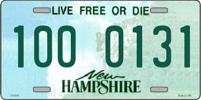 NH license plate 1000131