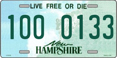 NH license plate 1000133