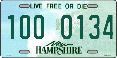 NH license plate 1000134