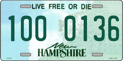 NH license plate 1000136