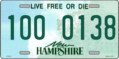 NH license plate 1000138