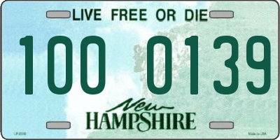 NH license plate 1000139