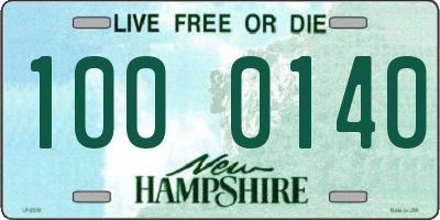 NH license plate 1000140