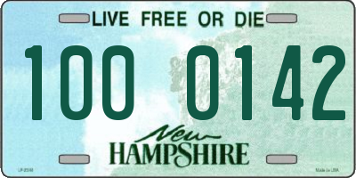 NH license plate 1000142