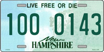 NH license plate 1000143