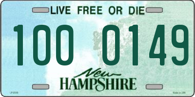 NH license plate 1000149