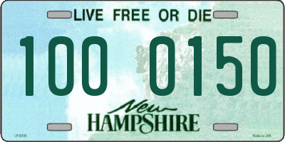 NH license plate 1000150