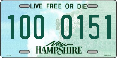 NH license plate 1000151