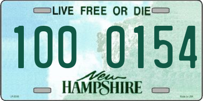 NH license plate 1000154