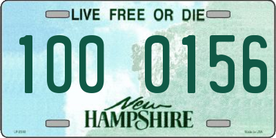 NH license plate 1000156