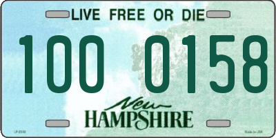 NH license plate 1000158