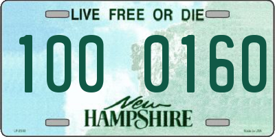 NH license plate 1000160
