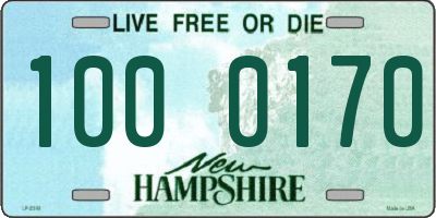 NH license plate 1000170