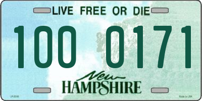 NH license plate 1000171