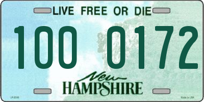 NH license plate 1000172