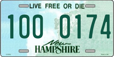 NH license plate 1000174