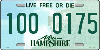 NH license plate 1000175