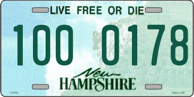 NH license plate 1000178