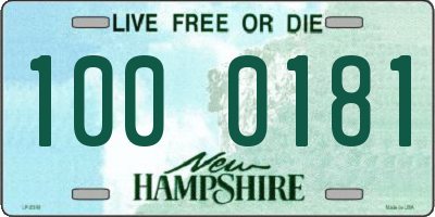NH license plate 1000181