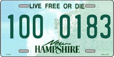 NH license plate 1000183