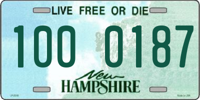 NH license plate 1000187