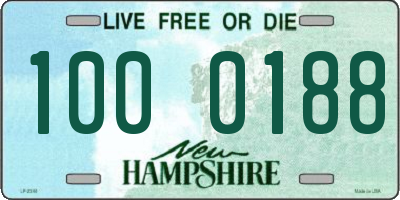 NH license plate 1000188