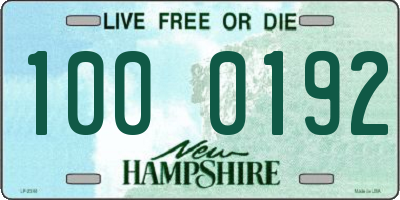 NH license plate 1000192