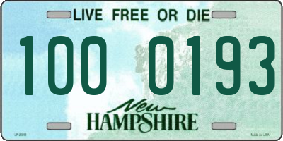 NH license plate 1000193