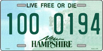 NH license plate 1000194