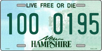 NH license plate 1000195