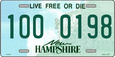 NH license plate 1000198