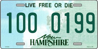 NH license plate 1000199