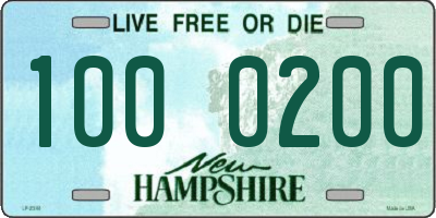 NH license plate 1000200