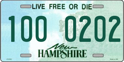 NH license plate 1000202