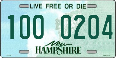NH license plate 1000204