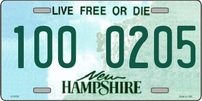 NH license plate 1000205