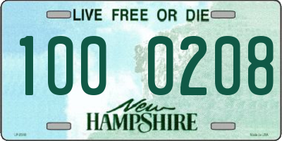 NH license plate 1000208