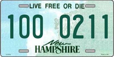 NH license plate 1000211