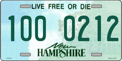 NH license plate 1000212