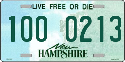 NH license plate 1000213
