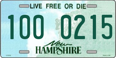 NH license plate 1000215
