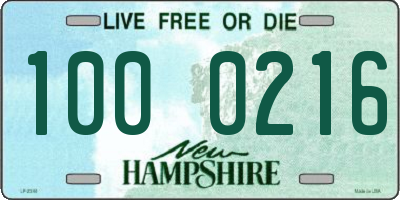 NH license plate 1000216