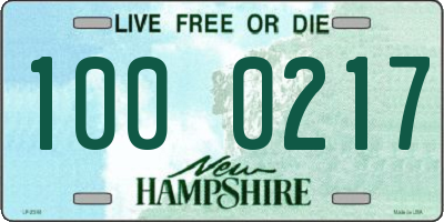 NH license plate 1000217
