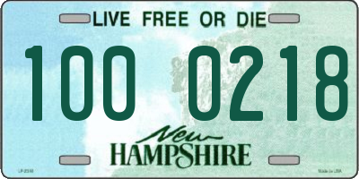 NH license plate 1000218